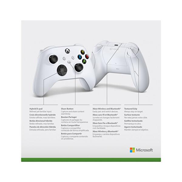 Xbox Kablosuz Oyun Kumandası Robot White (9. Nesil)