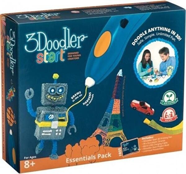 3Doodler Start Essential Set 1 Kalem+2 Set Karışık Plastık+Proje Kitabı+Usb Kablo