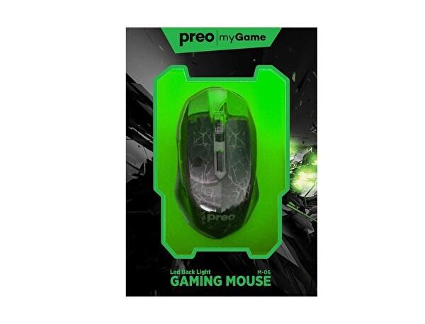 Preo My Game M06 Kablolu Gaming Mouse (Yeşil)
