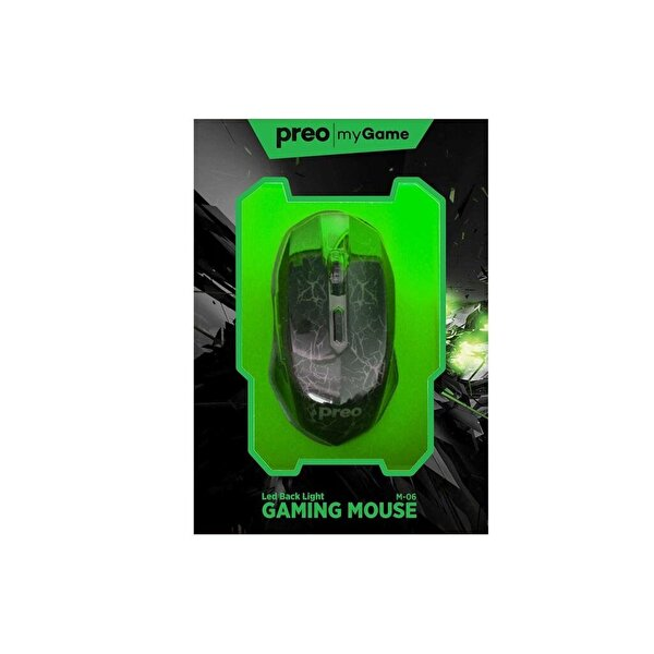 Preo My Game M06 Kablolu Gaming Mouse (Yeşil)