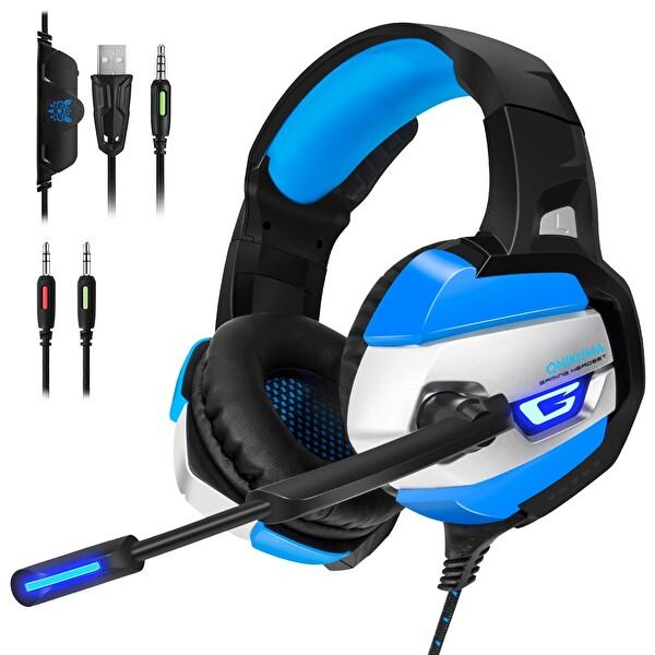 Onikuma K5 Gaming Kulaklık Siyah/Mavi