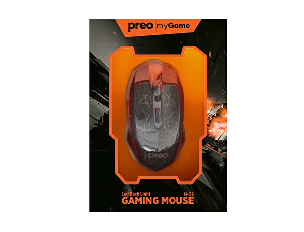 Preo My Game M06 Kablolu Gaming Mouse (Turuncu)