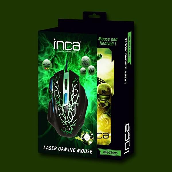 Inca Img365Ms Kablolu Gaming Mouse+Mousepad
