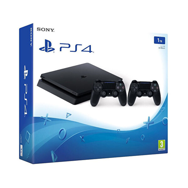 PS4 1TB (E) KONSOL + İKİ DUALSHOCK 4 ( OUTLET )