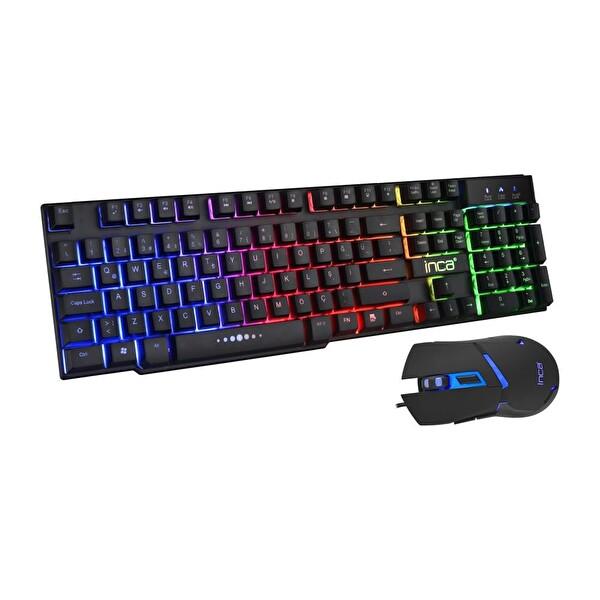 Inca IKG-448 Rainbow Efect  Mekanik Hisli Klavye & Mouse Set
