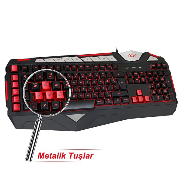 Inca Lapetos Ikg-447 Silent Software Gaming Keyboard(Sessiz Tuş/Makrolu)
