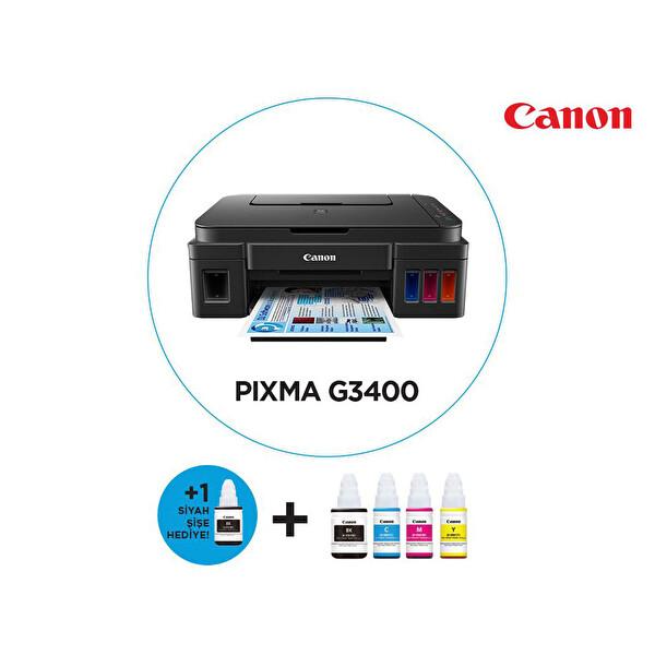 CANON G3400 WI-FI MÜREKKEPLİ  ÇOK FONKSİYONLU TANKLI YAZICI ( OUTLET )