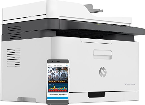 HP Color Laser MFP 179FNW Faks + Fotokopi + Tarayıcı + Ethernet + Wifi + Çok Fonksiyonlu Renkli Lazer Yazıcı 4ZB97A
