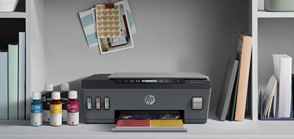 HP Smart Tank 515 + Fotokopi + Tarayıcı + Wifi + Airprint + Çok Fonksiyonlu İnkjet Tanklı Yazıcı 1TJ09A