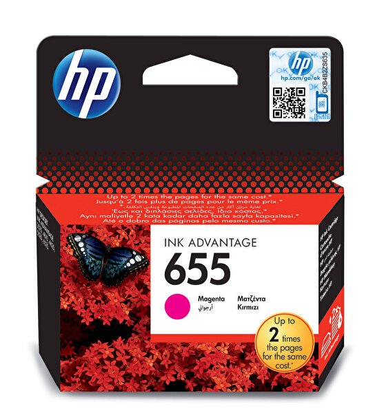 HP 655 Kırmızı Mürekkep Kartuş (Cz111Ae)