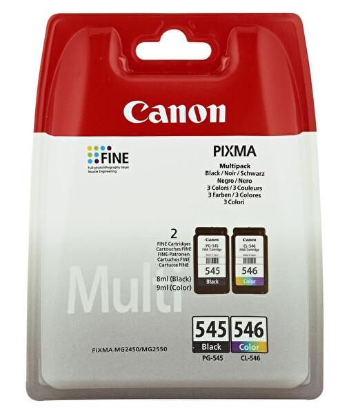 Canon PG-545 + Cl-546 2 li Paket Mürekkep Kartuş