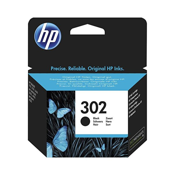 HP 302 Siyah Mürekkep Kartuşu (F6U66AE)