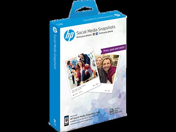 HP Social Media Snapshots Çıkarılabilir Yapışkan Fotoğraf Kağıdı (W2G60A) - 10X13Cm - 25 Sayfa