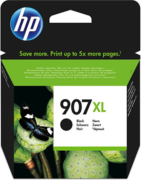 HP 907Xl Siyah Yüksek Kapasiteli Mürekkep Kartuş (T6M19Ae)