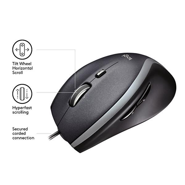 Logitech M500 Hyperfast Kablolu Mouse (Siyah)