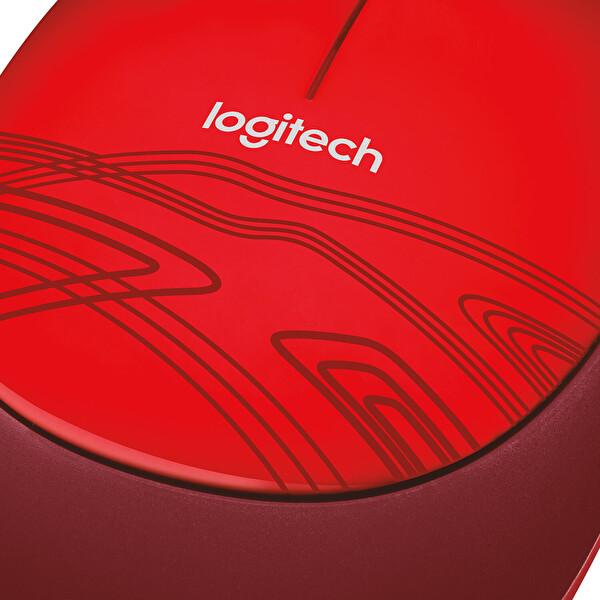 Logitech M105 Kablolu Mouse (Kırmızı)