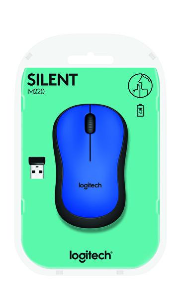 Logitech M220 Silent Kablosuz Mouse (Mavi)