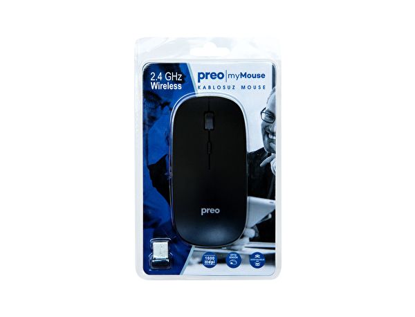 Preo My Mouse M08 Wireless Mouse (Siyah)