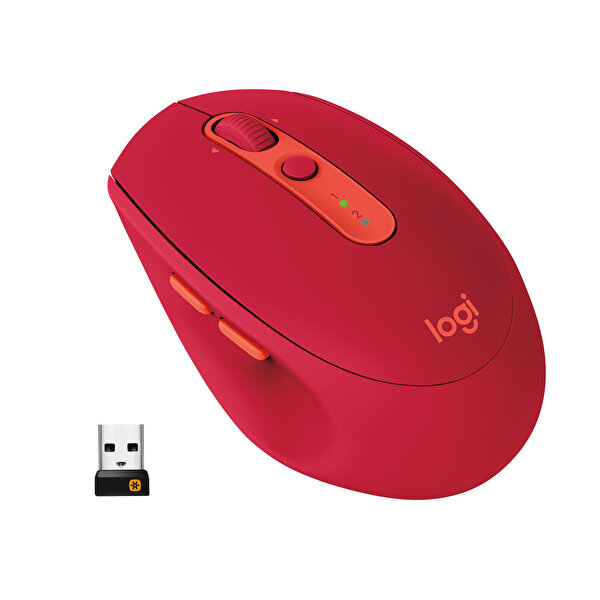 Logitech M590 Multi Device Silent Kablosuz Mouse (Kırmızı)