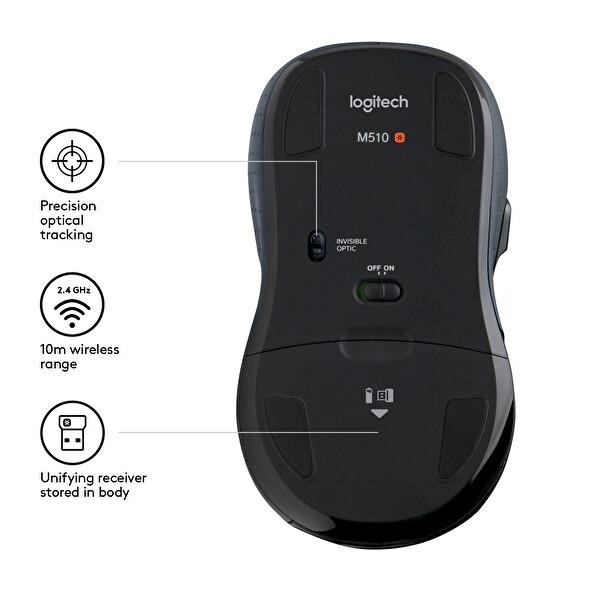 Logitech M510 Wireless Mouse Siyah