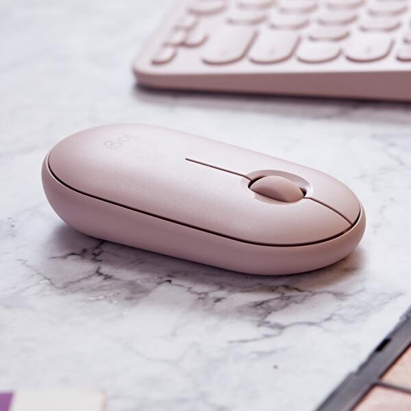 Logitech Pebble M350 Kablosuz Bluetooth Mouse Rose