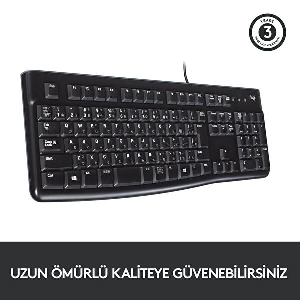 Logitech K120 Usb Q Tr Kablolu Klavye (920-002505)