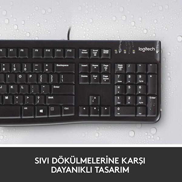 Logitech Mk120 Usb Kablolu Klavye Mouse Set (920-002560)