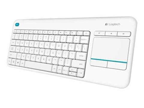 Logitech K400 Plus Dokunmatik Kablosuz Beyaz Smart Tv Klavye (920-007150)