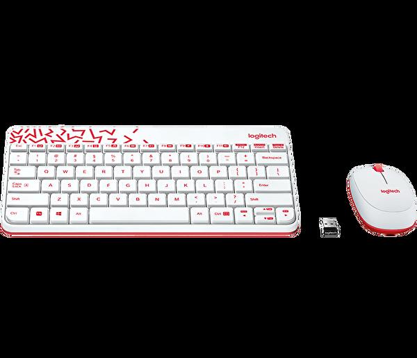 Logitech Mk240 Kablosuz Kırmızı Beyaz Klavye Mouse Set (920-008214)