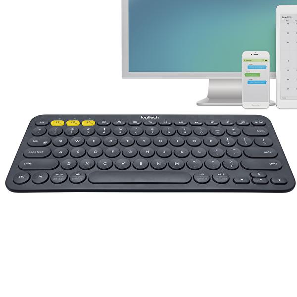 Logitech K380 Multi-Device Bluetooth(R) Gri Klavye