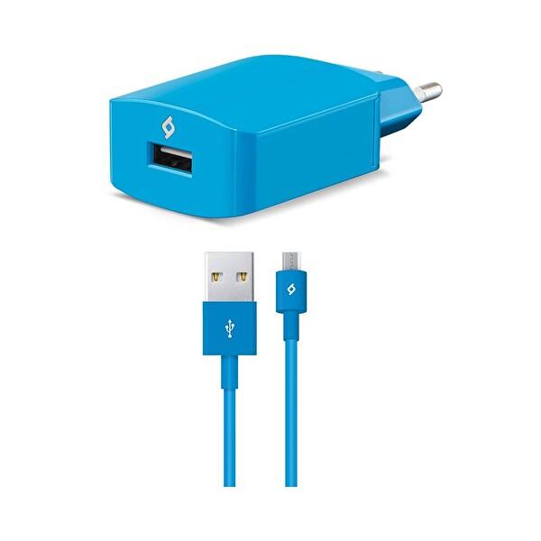 Ttec Speed Chaarger Seyahat Şarj Aleti 2.1A Micro USB Kablo - Mavi