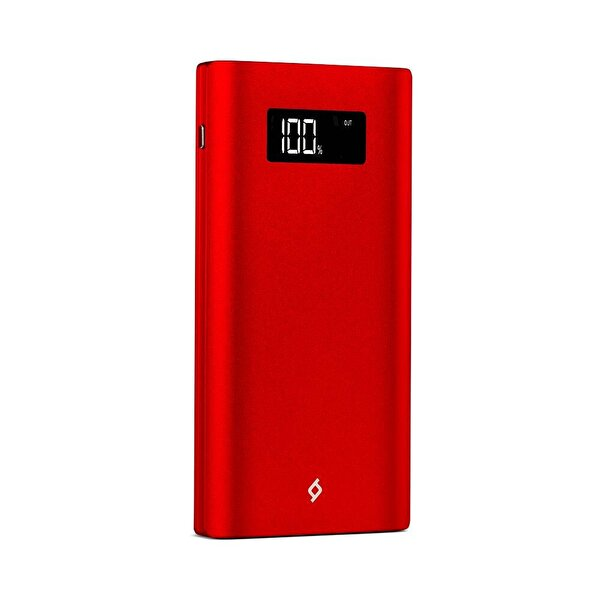 Ttec Alumislim LCD 10.000 mAh Taşınabilir Şarj Cihazı - Kırmızı