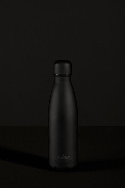 Puro Stainless Steel Icon Bottle Soft Touch Siyah 500ML