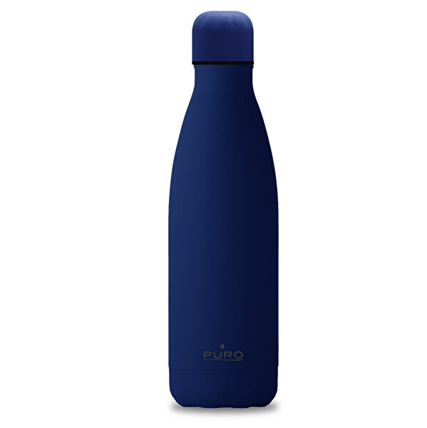 Puro Stainless Steel Icon Bottle Soft Touch KOYU Mavi 500ML