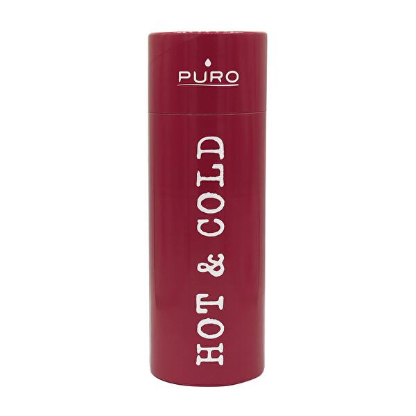 Puro Stainless Steel Hot&Cold Parlak Kırmızı 500ML
