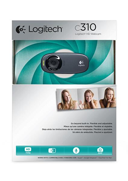 Logitech C310 Siyah HD Webcam (960-001065 V-U0015)