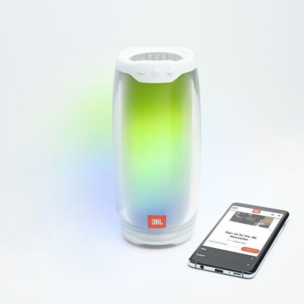Jbl Pulse4 Işıklı Bluetooth Hoparlör Beyaz