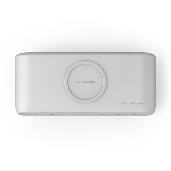 Anker SoundCore Wakey A3300 Qi Kablosuz Şarj Özellikli Bluetooth Hoparlör Çalar Saat Radyo Gri