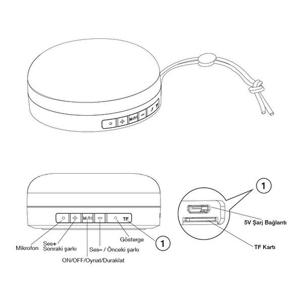 Frisby FS-190BT 2.0 Bluetooth Hoparlör Siyah