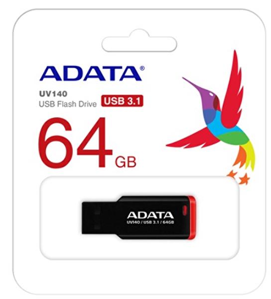 Adata 64GB UV140 Kırmızı-SİYAH USB3.1 Bellek