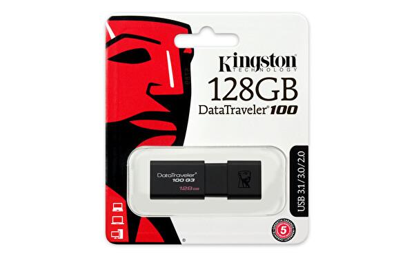 Kingston DataTraveler100 G3 128GB USB 3.0 USB Bellek