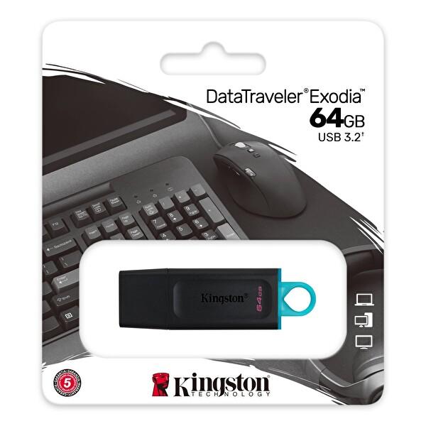 Kingston 64GB USB3.2 DataTrav Ex USB Bellek