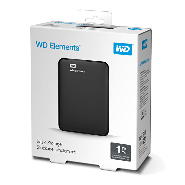 "WD Elements WDBUZG0010BBK 1TB 2.5"" Usb 3.0 - Siyah"