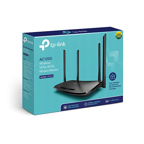 TP-Link Archer VR300 AC 1200 Mbps Wireless Fiber/VDSL/ADSL Modem Router
