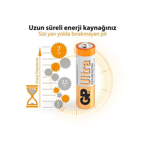 Gp LR6 Ultra Alkalin AA 12 li Kalem Pil