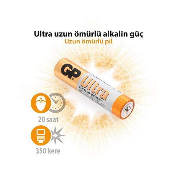 GP LR03 Ultra Alkalin 12 Li AAA Pil