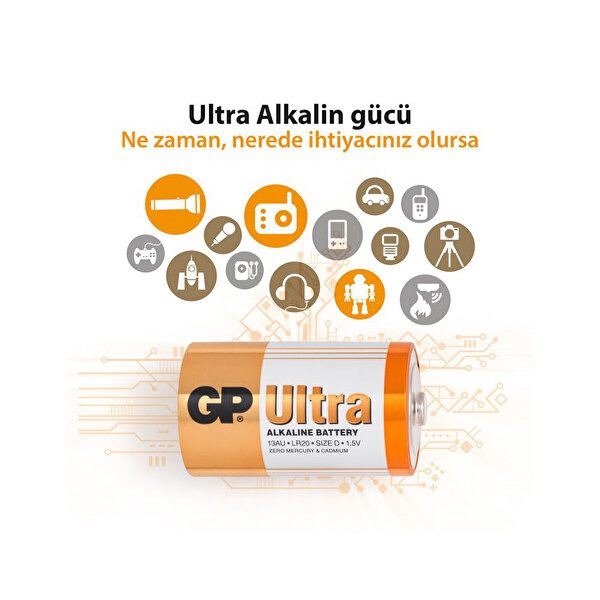GP 13AU Kalın Ultra Alkalin