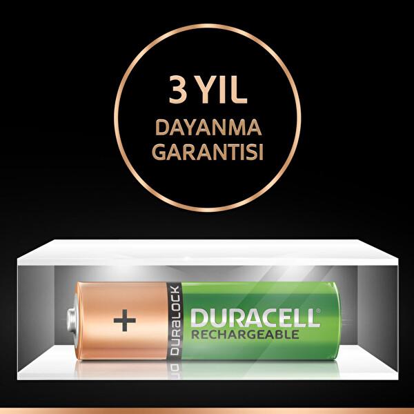 Duracell AA 1300 mAh-2K Şarj Edilebilir Pil