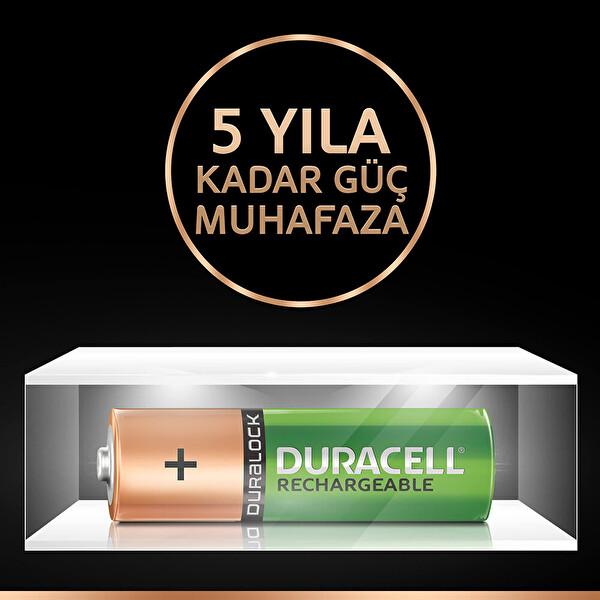 Duracell AA 1950 mAh-2BCD / 2400 mAh Şarj Edilebilir Pil