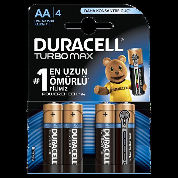 Duracell AA 4 Lü Turbo Max Kalın Kalem Pil